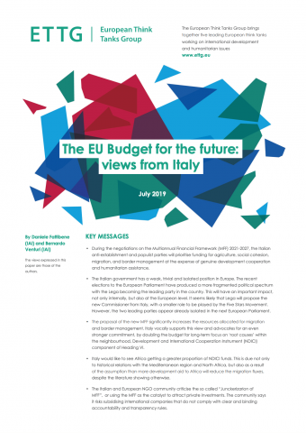 The EU Budget for the future: views from Italy | IAI Istituto Affari
