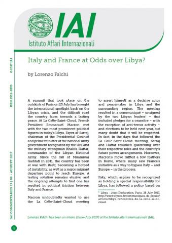 Italy and France at Odds over Libya? | IAI Istituto Affari