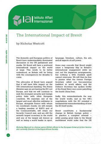 The International Impact of Brexit   IAI Istituto Affari