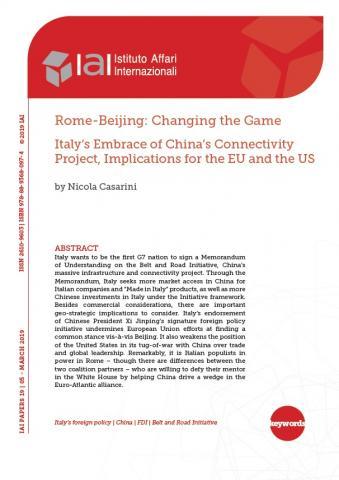Rome-Beijing: Changing the Game | IAI Istituto Affari Internazionali